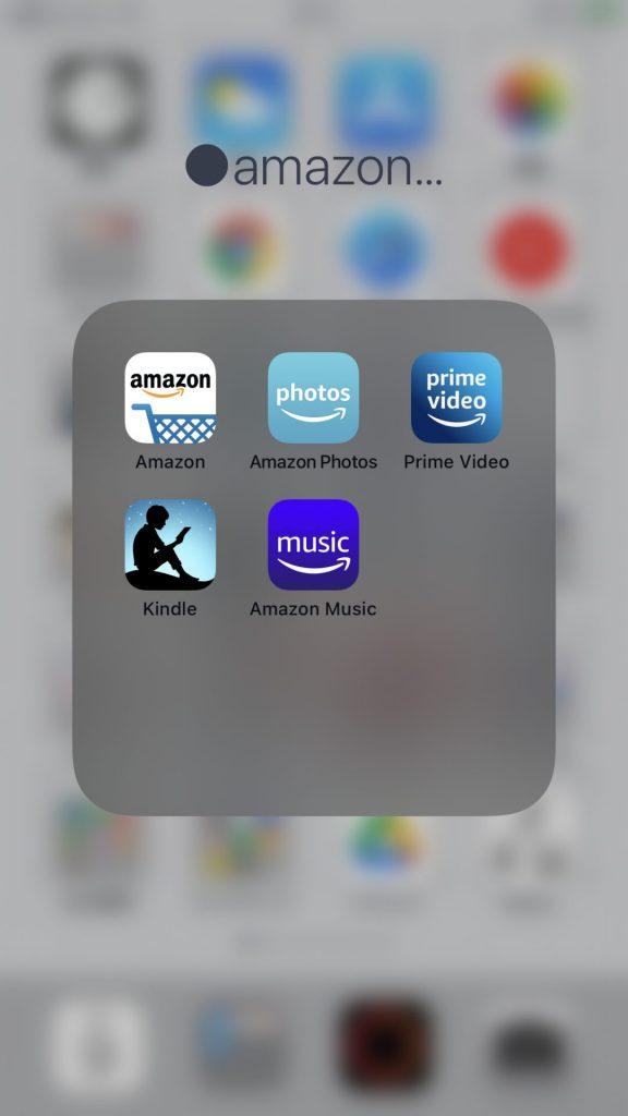 サブスク先生が使用しているアマゾンアプリ